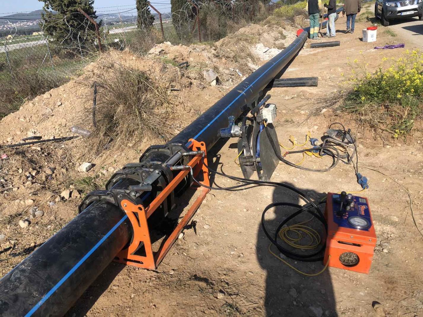 """Δήμος Τανάγρας - Προχωρούν οι εργασίες του έργου: """"Αντικατάσταση αγωγού από αεροδρόμιο έως αντλιοστάσιο Σχηματαρίου""""(ΦΩΤΟ)"""