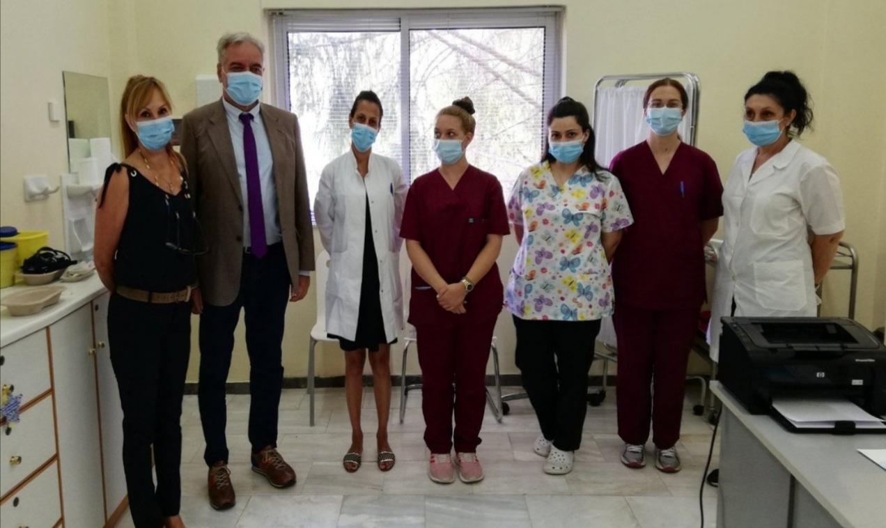Το Κέντρο Υγείας Οινοφύτων επισκέφθηκε ο διοικητής της 5ης Υγειονομικής Περιφέρειας